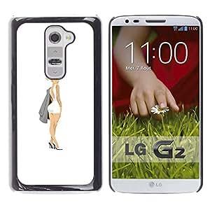 """For LG G2 Case , Mini Tinta Vestido Sexy Legs Pintura Arte Botín"""" - Diseño Patrón Teléfono Caso Cubierta Case Bumper Duro Protección Case Cover Funda"""