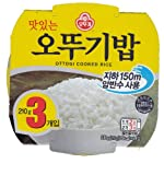 Ottogi Cooked Rice Bowl - White Rice (Pack of 3)