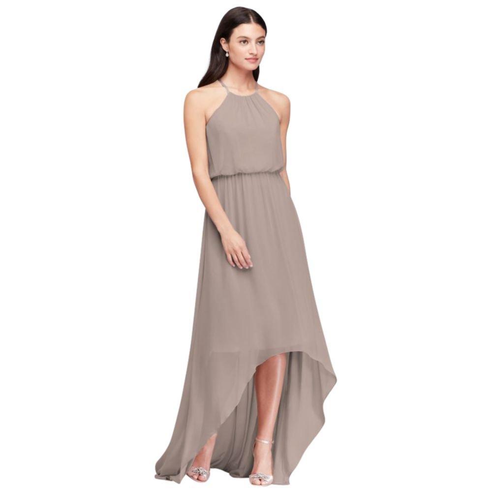High-Low Chiffon Halter Bridesmaid Dress Style F19740