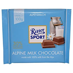 Ritter Sport Alpine Milk Chocolate 100g