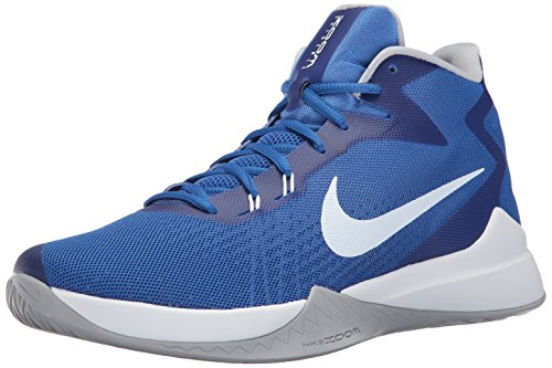 new arrivals 625ae cbcc4 Galleon - NIKE Men s Zoom Evidence Basketball Shoe, Game Royal White Wolf  Grey, 10.5 D US