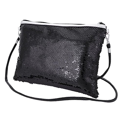 Clutch Ladies Bag Purse Gold Glitter Evening Purse Black Handbag Shoulder Sequin Bag for Shoulder Women wPvAYq1v