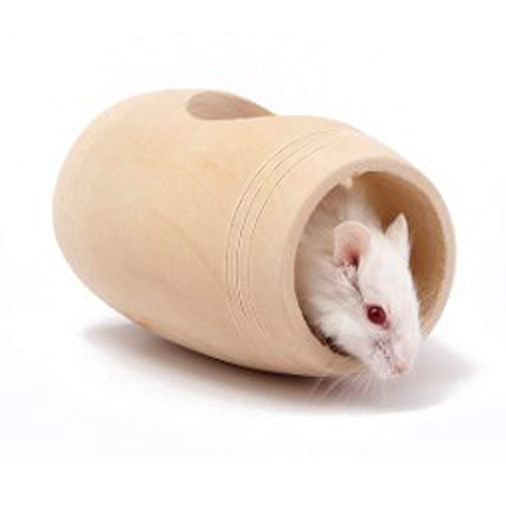 ZHJZ - Hamster de Madera con Forma de Barril