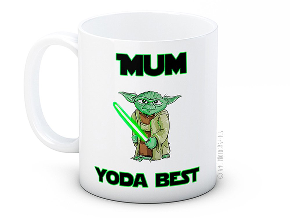 Mum Yoda Best - Star Wars - Taza de café de alta calidad: Amazon.es: Hogar