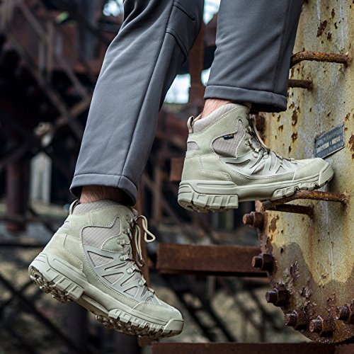Free Soldier Herren Tactical Stiefel MID HIGH RISE Wandern Schuhe Winter Leder Stiefel Mud Color