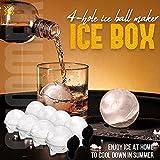 KinAndKen 4-Hole Ice Ball Maker,Box Whiskey Round