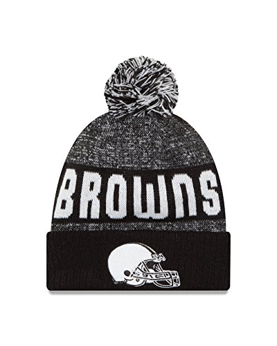 NFL Cleveland Browns 2016 Sport Knit Beanie, One Size, Black/White
