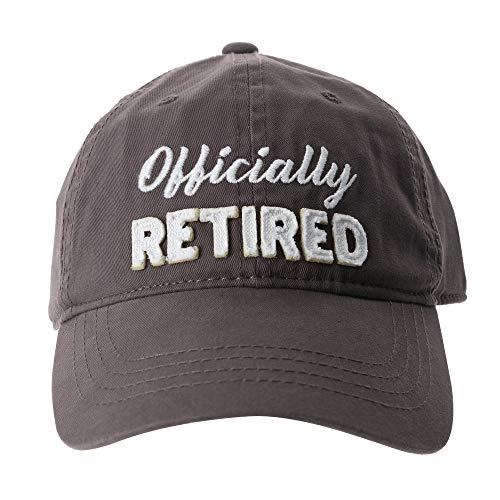 Pavilion - Officially Retired - Gray Baseball Cap Hat - Retirement Gift for Him Or Her