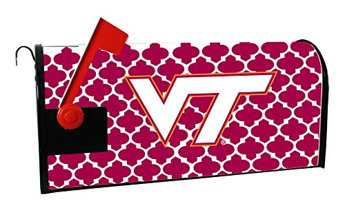 (VIRGINIA TECH HOKIES MAILBOX COVER-VIRGINIA TECH MAGNETIC MAIL BOX COVER-MOROCCAN DESIGN)