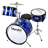 Mendini 3-Piece 16-Inch Junior Drum Set, Metallic Blue - MJDS-3-BL