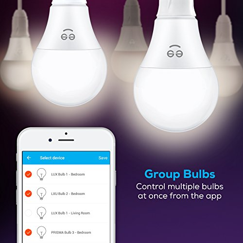 Geeni Lux 800 A19 Smart Wi-Fi LED Dimmable White Light Bulb - 60W Equivalent, No Hub Required, Works with Alexa, Google Assistant & Microsoft Cortana by Geeni (Image #3)
