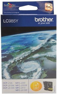 GENUINE OEM BLACK BROTHER PRINTER INK CARTRIDGE LC985 300 PAGE YIELD LC985BK