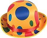 Adult Men's Mr Tumble Fancy Dress Costume Accessory Polka Dot Clown Bowler Hat