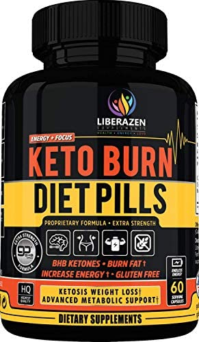 Keto Burn Diet Pills - Instant Ketosis BHB Supplement for Women and Men - Advanced Weight Loss, Energy & Focus - 60 Capsules 1