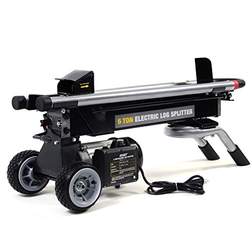 Goplus 6 Ton 1500W Hydraulic Electric Log Splitter Powerful Portable Wood Cutter with Mobile Wheels