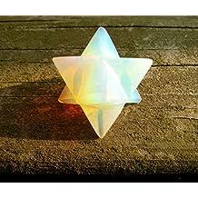 "Opalite Merkaba Star ""Stone of Eternity"" Energy Healing Meditation Tool Sacred Geometry Tetrahedron Crystal Gemstone Altar Decor Spiritual Gifts"