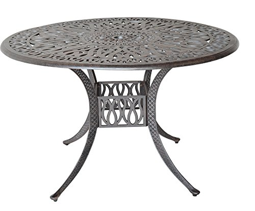 K&B PATIO LD777A-60 Elizabeth Round Dining Table, 60