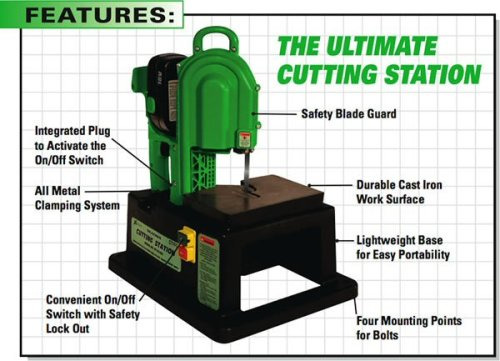 Stout ST-CS250 portable cutting station bandsaw base