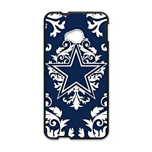 Hoomin Damask Pattern Dallas Cowboys HTC One M7 Cell Phone Cases Cover Popular Gifts(Laster Technology)