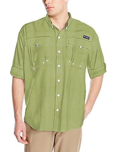 Columbia Mens Super Bahama Long Sleeve Shirt, Spring Mini Check, Large