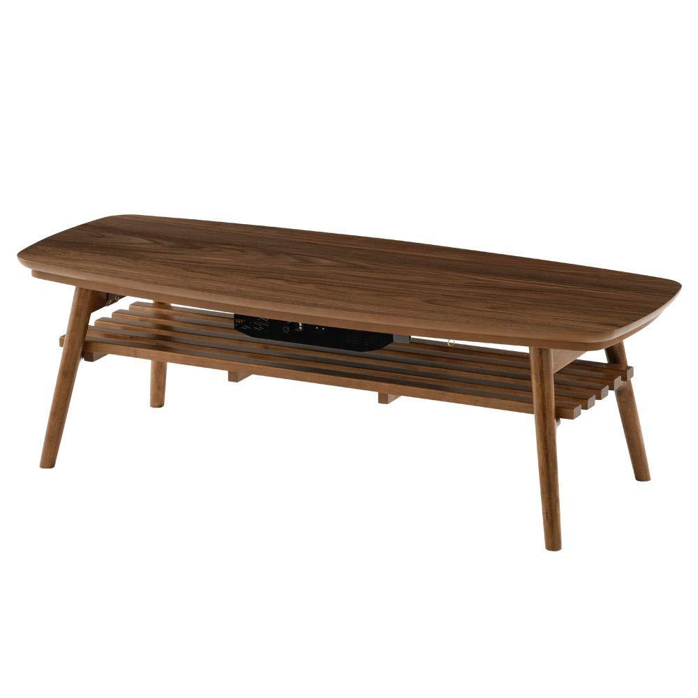 芸能人愛用 折りたたみ こたつ B01N8THVZH こたつ テーブル 一年中使える ローテーブル センターテーブル ローテーブル 〔120×60cm〕 ウォールナット B01N8THVZH, e-Bagshop:a9ea6eec --- arianechie.dominiotemporario.com