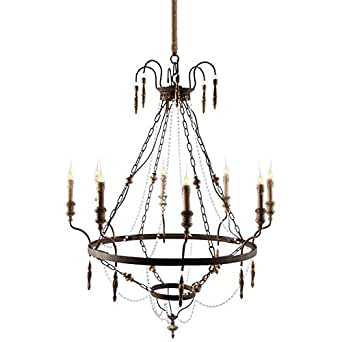 RIMINI FRENCH COUNTRY CHANDELIER WITH CRYSTAL BEADS