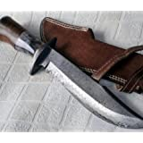 Handmade Damascus Steel 15.25 Inches Bowie...
