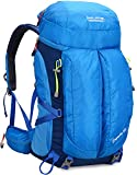 BOLANG Waterproof Hiking Daypack Outdoor Backpack for Camping Travel 40L (Blue, 8630)