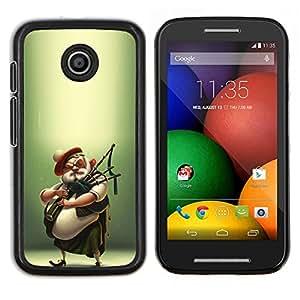 Scottish jugador de la gaita Kilt Hombre- Metal de aluminio y de plástico duro Caja del teléfono - Negro - Motorola Moto E / XT1021 / XT1022