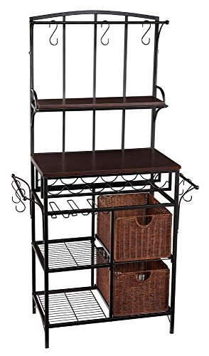 Price comparison product image Holly & Martin Free-Standing Complete Wine Storage Rack with Rattan Baskets