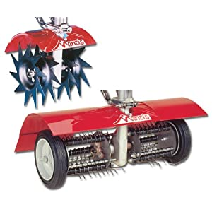 Mantis 7321 Power Tiller Aerator/Dethatcher Combo Attachment for Gardening