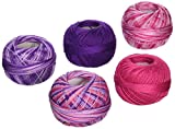 Handy Hands DPN-7123 Lizbeth Specialty Pack Cordonnet Cotton (5 Pack), Size 10, Girly Girl, Multicolor