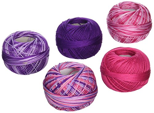 Handy Hands DPN-7123 Lizbeth Specialty Pack Cordonnet Cotton (5 Pack), Size 10, Girly Girl, Multicolor by Handy Hands