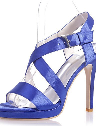ShangYi Women's Shoes Satin Stiletto Heel Open Toe Sandals Wedding/Party & Evening Wedding Shoes More Colors available Silver zkUdTH3