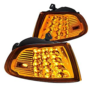 Fit Honda Civic 2Dr/3Dr EG EH Amber LED Turn Signal Corner Lights Left+Right