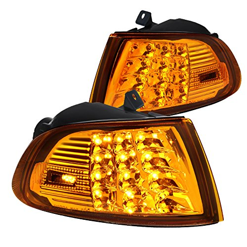 Fit Honda Civic 2Dr/3Dr EG EH Amber LED Turn Signal Corner Lights Left+Right