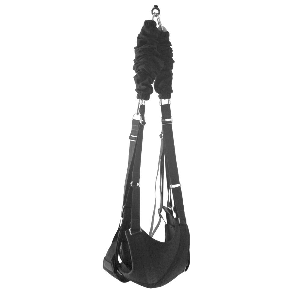 Lovetoi S/ê/&x Swing Couple-Swivel Swings for Indoor Games Support 360 Degree Spinning Height Adjustable Hold Weight Up to 600 lb Color : Black