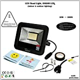 30W LED Flood Light, Work Light, Osram LED, 101lm/W 3000lm, 3200K, Meanwell Power, IP66, UL, 5-Year Warranty, US Plug, Indoor, Outdoor, Garden, Lawn, Yard, Garage, Camp, Parking Lot, Facade Lighting For Sale