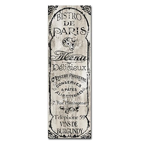 Best Paris Bistro II by Color Bakery, 16x47-Inch Canvas Wall Art