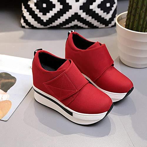 Rouge Boots Bottes De Compensées Chaussures On Slip Femmes Cheville Plateformes Mode Femme Casual sonnena EwqvOqT7