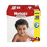 Baby : Huggies Snug & Dry Diapers, Size 3, 222 Count (One Month Supply) (Packaging may vary)