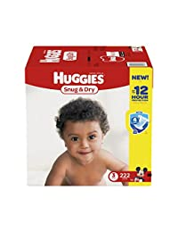 Huggies Snug & Dry Diapers, Size 3, 222 Count (One Month Supply) (Packaging may vary) BOBEBE Online Baby Store From New York to Miami and Los Angeles