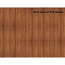 Dollhouse Decoration and Elements Scenery Sheets - Dark Wood Planks or Flooring (10 Sheets)