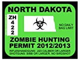 North Dakota Zombie Hunting Permit 2012 (Bumper Sticker)