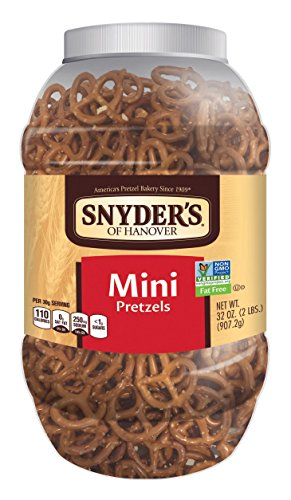 Snyder's of Hanover Mini Canister Pretzels, 32 Ounce