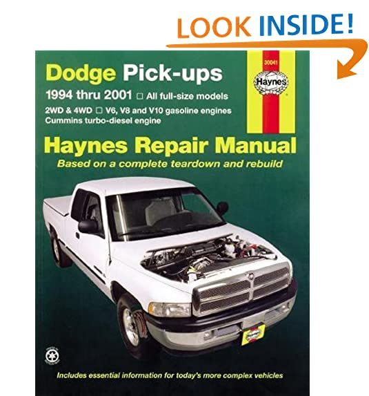 Dodge pick ups 1994 2001 haynes repair manuals haynes dodge pick ups 1994 2001 haynes repair manuals haynes 0038345300417 amazon books fandeluxe Image collections
