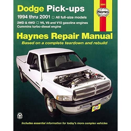 dodge pick ups 1994 2001 haynes repair manuals haynes rh amazon com