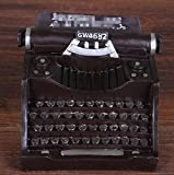 GL&G Retro Resin typewriter model manual Crafts Home Décor Accents Collectible Ornaments bar Cafe Tabletop Scenes Creative gift,B,14.51310cm