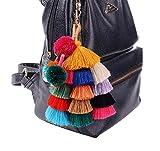 Colorful Bohemian Pom Pom Tassel Key Chain Charm Keychain Bag Handbag Car Accessories(01)