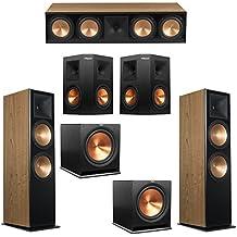 Klipsch 5.2 Cherry System with 2 RF-7 III Floorstanding Speakers, 1 RC-64 III Center Speaker, 2 Klipsch RP-250S Surround Speakers, 2 Klipsch R-115SW Subwoofers